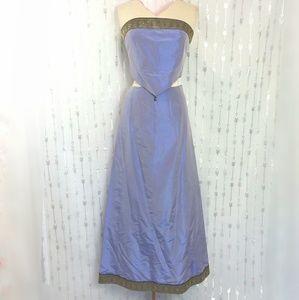 Bebe Gown 2 Piece Iridescent Purple Strapless Silk